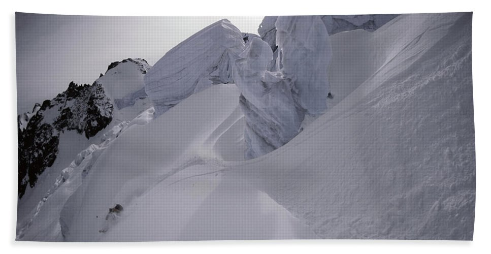 Action Bath Towel featuring the photograph Extreme Skier Going Fast In Beautiful by Patrik Lindqvist