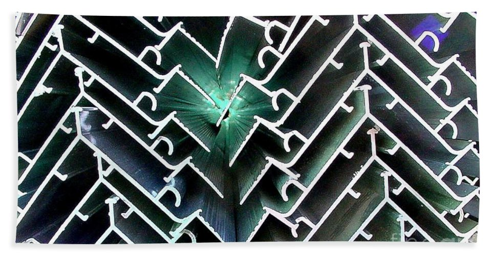 Digital Image Hand Towel featuring the photograph Extrusions by Ron Bissett