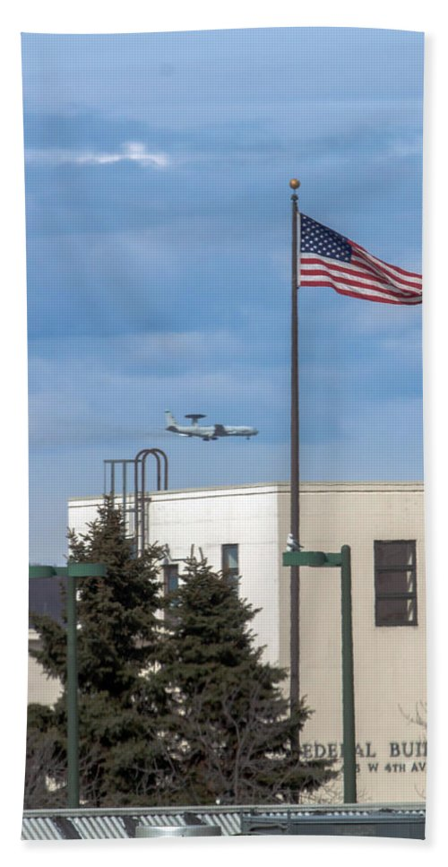 Boeing E-3 Hand Towel featuring the photograph Eye In The Sky by Thomas Sellberg