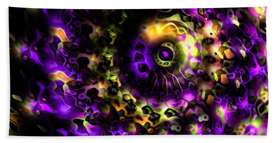 Eye Hand Towel featuring the digital art Eye Of The Swirling Dream by Hakon Soreide