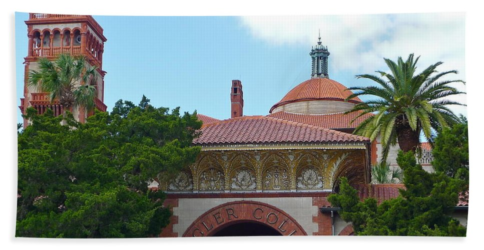 Unique Architecture Hand Towel featuring the photograph Fabulous Flagler College by Denise Mazzocco
