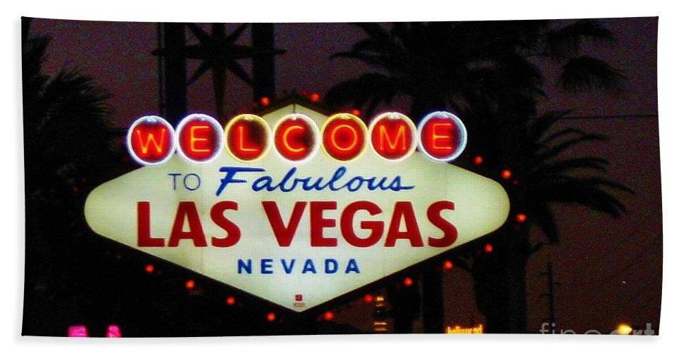 Las Vegas Hand Towel featuring the photograph Fabulous Las Vegas by John Malone