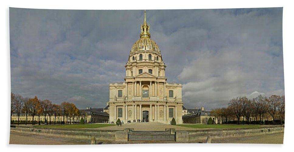 Photography Bath Sheet featuring the photograph Facade Of The St-louis-des-invalides by Panoramic Images