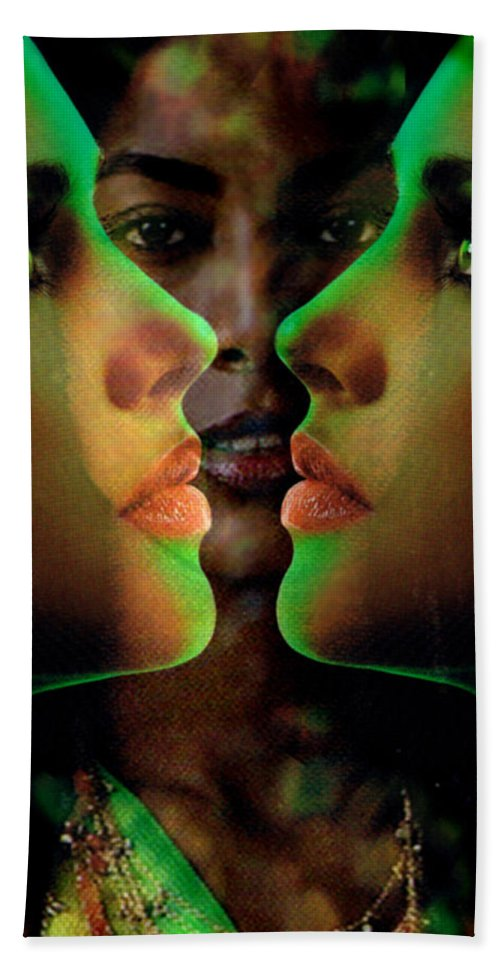 Women Hand Towel featuring the digital art Face 2 Face by Seth Weaver