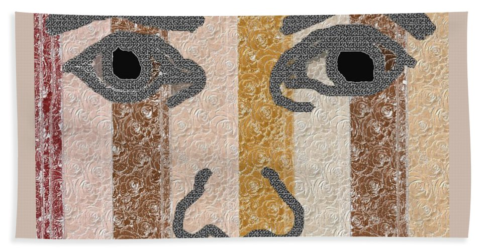Face Hand Towel featuring the digital art Face It by Pharris Art