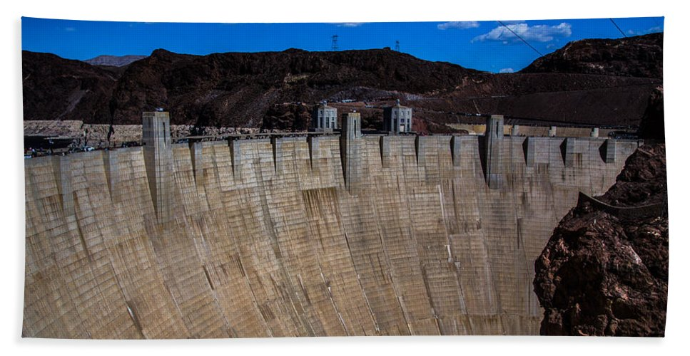 Nevada Hand Towel featuring the photograph Face Of The Dam by Angus Hooper Iii