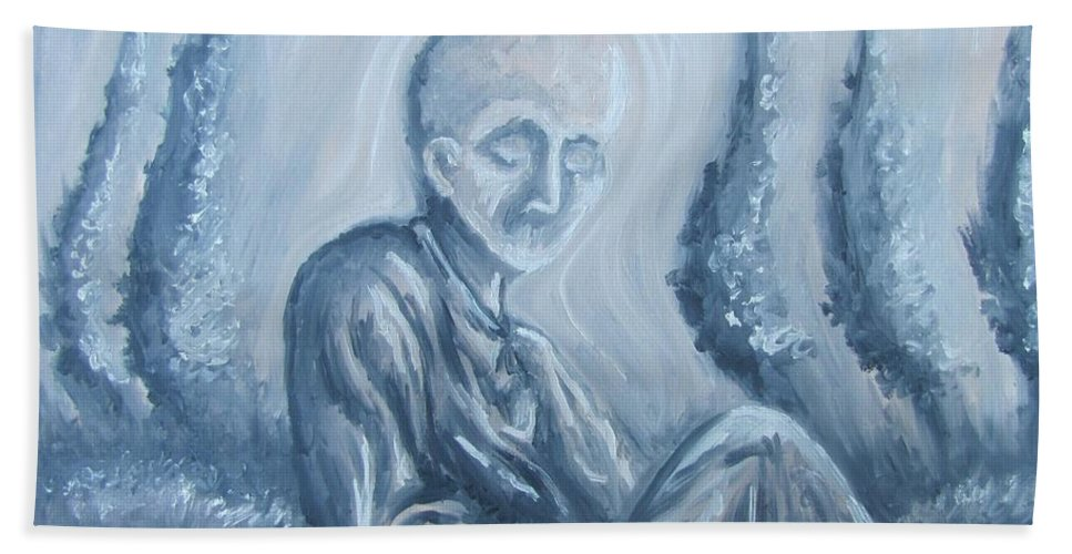 Tmad Hand Towel featuring the painting Fade Away by Michael TMAD Finney