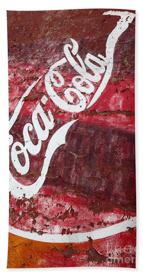 America Bath Towel featuring the photograph Faded Coca Cola Mural 2 by James Brunker