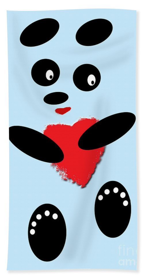 Pandas Bath Sheet featuring the photograph Fading Like A Flower. Panda In Love. 02 by Ausra Huntington nee Paulauskaite