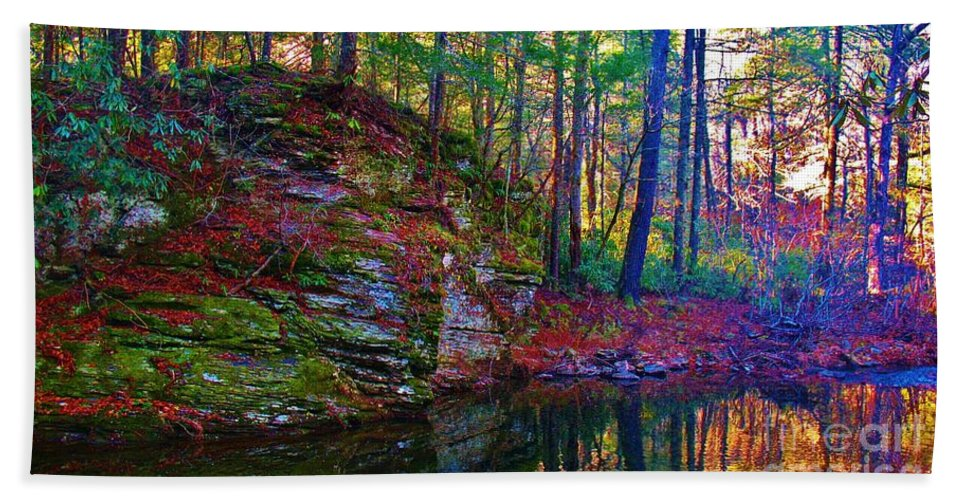 Kerisart Hand Towel featuring the photograph Fairyland Forest by Keri West
