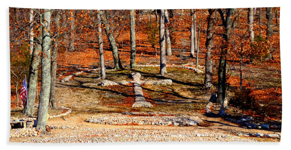 Landscape Bath Sheet featuring the photograph Faith And Freedom by Peggy Franz