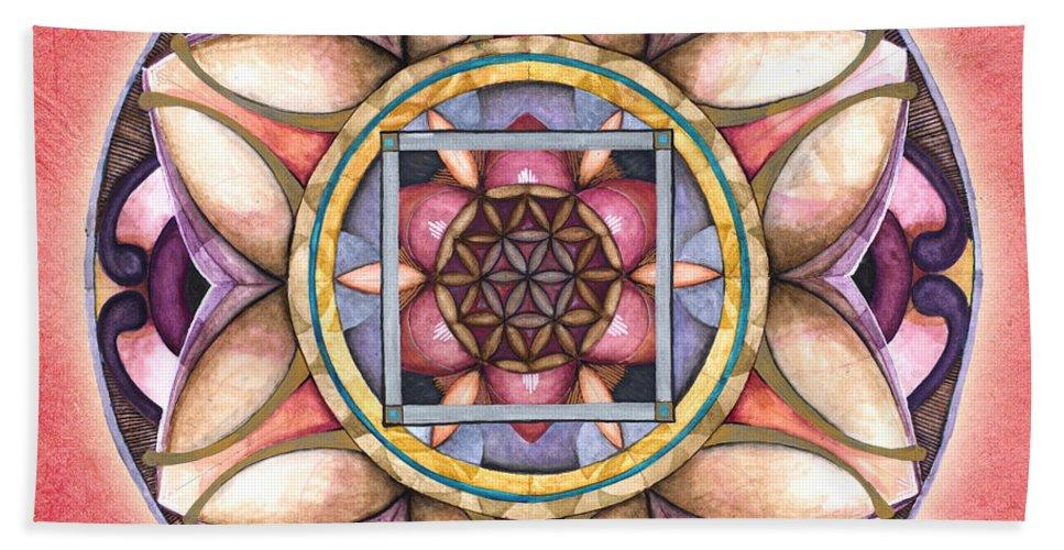 Mandala Art Hand Towel featuring the painting Faith Mandala by Jo Thomas Blaine