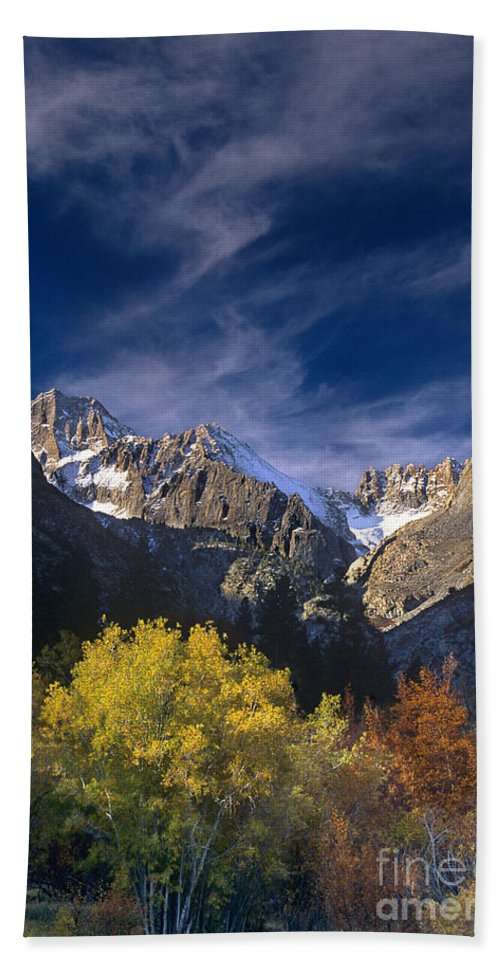 California Hand Towel featuring the photograph Fall Color Below Middle Palisades Glacier Eastern Sierras California by Dave Welling