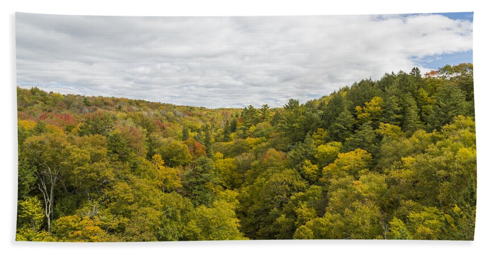 Fall Hand Towel featuring the photograph Fall Color Hills Mi 1 by John Brueske