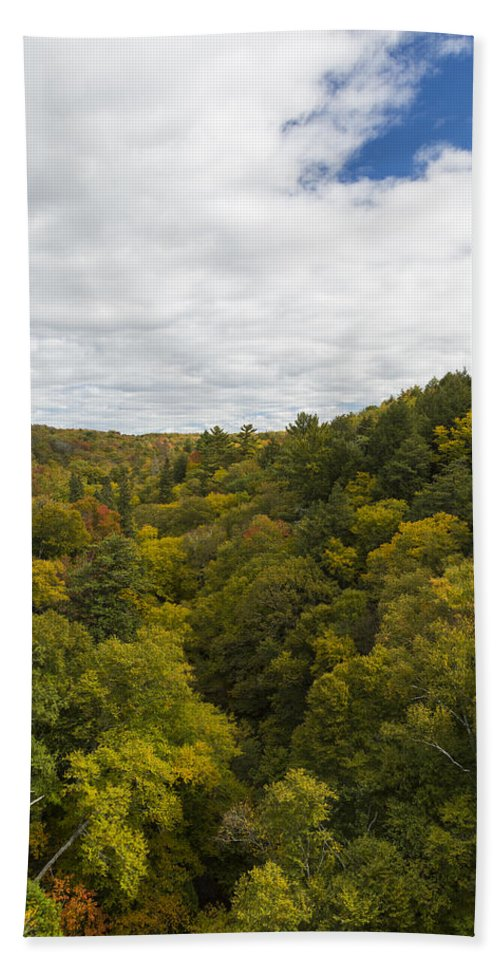 Fall Hand Towel featuring the photograph Fall Color Hills Mi 2 by John Brueske