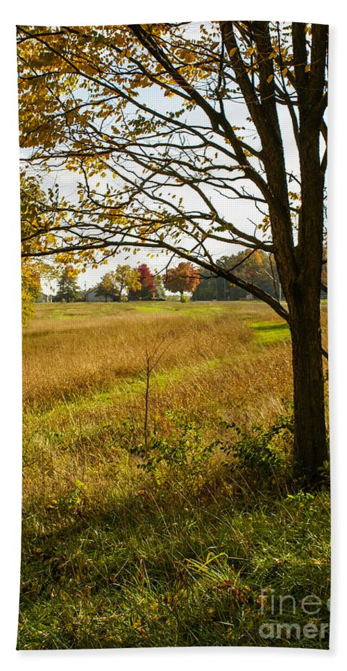 Fall Hand Towel featuring the photograph Fall Day In The Ozarks by Jennifer White