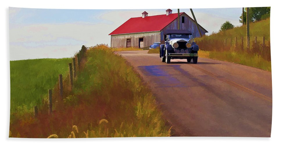 Barn Hand Towel featuring the photograph Fall Day by Jack R Perry