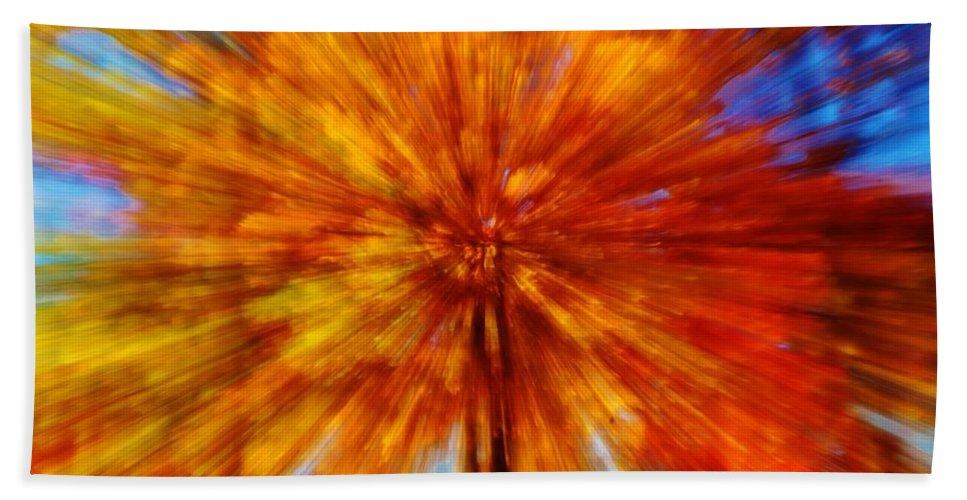 Bath Sheet featuring the photograph Fall Fast Forward by Daniel Thompson