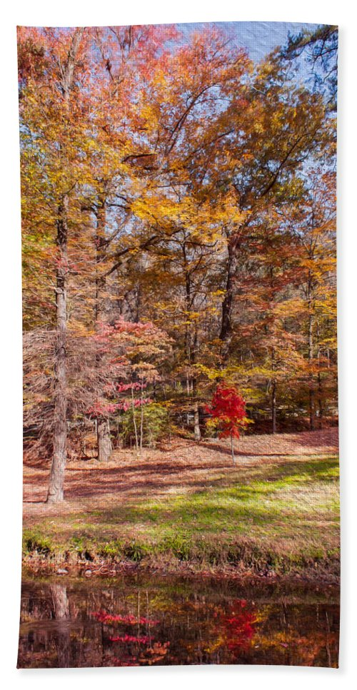 Landscape Hand Towel featuring the photograph Fall In The Ozarks by John M Bailey