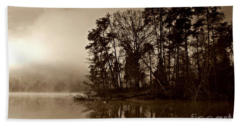 Lake Hand Towel featuring the photograph Fall On Melton Hill Lake V by Douglas Stucky