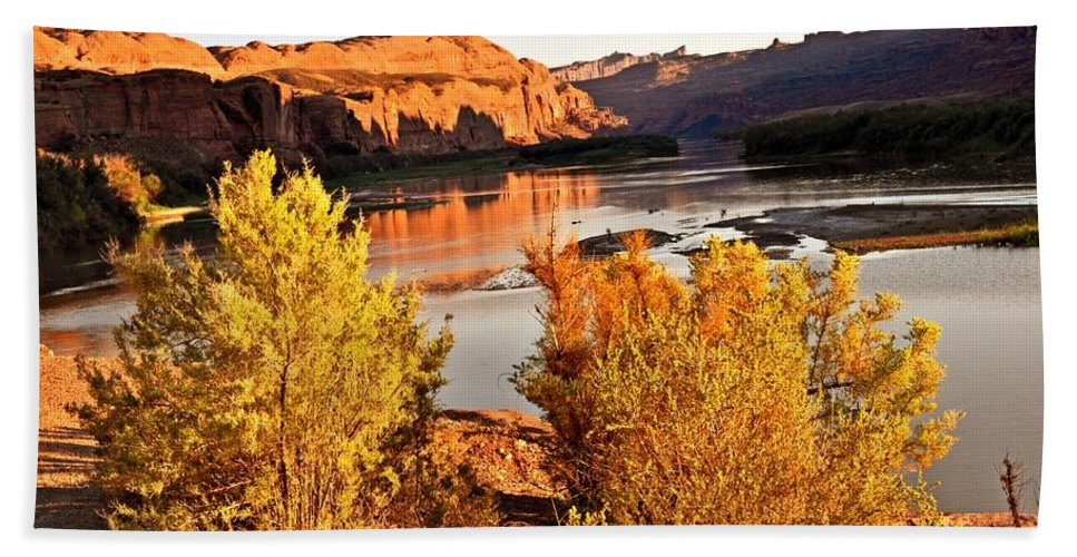 Colorado River Hand Towel featuring the photograph Fall On The Colorado by Marty Koch