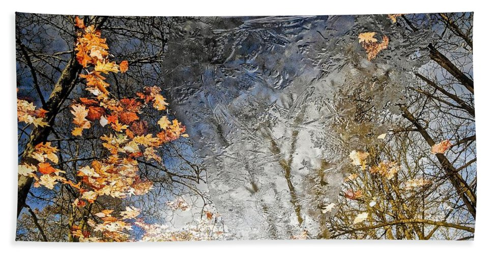 Landscapes Hand Towel featuring the photograph Fall Reflections by Joan Reese
