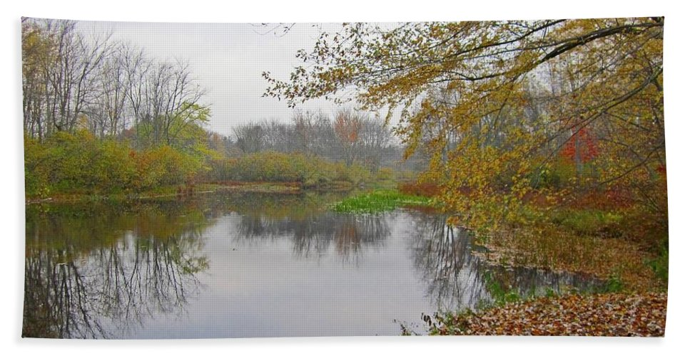 Landscape Bath Sheet featuring the photograph Fall River Park by MTBobbins Photography