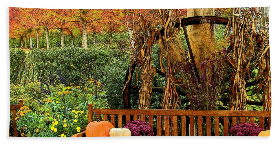 Fine Art Bath Sheet featuring the photograph Fall Serenity by Rodney Lee Williams