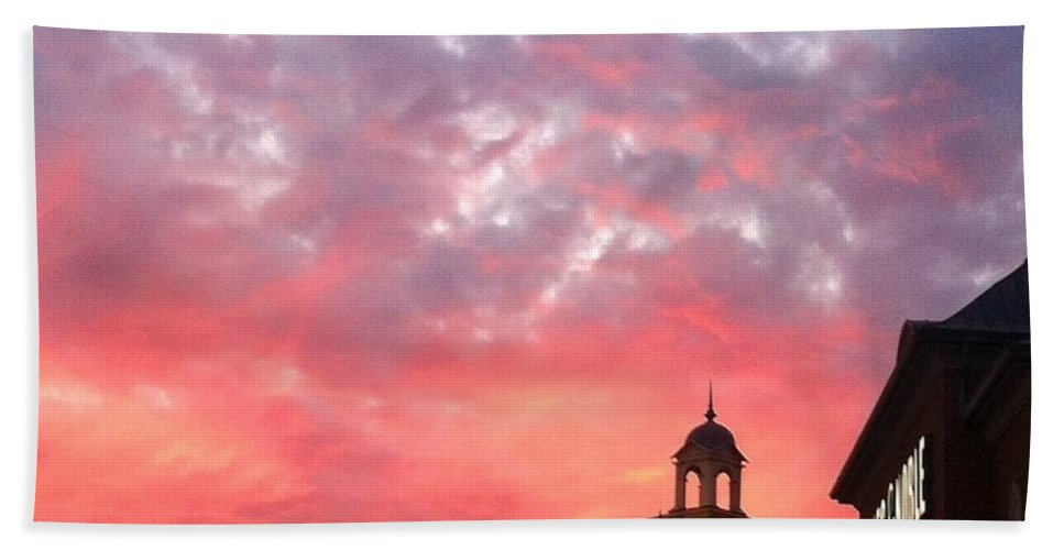 Fall Hand Towel featuring the photograph Fall Sky by Michael Krek