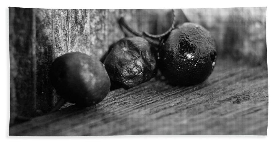 Berry Bath Sheet featuring the photograph Fallen Berries by Jim Shackett