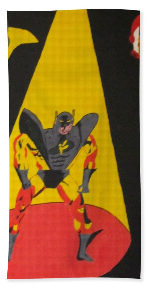 Avengers Hand Towel featuring the painting Fallen Hero by Robert Nacke