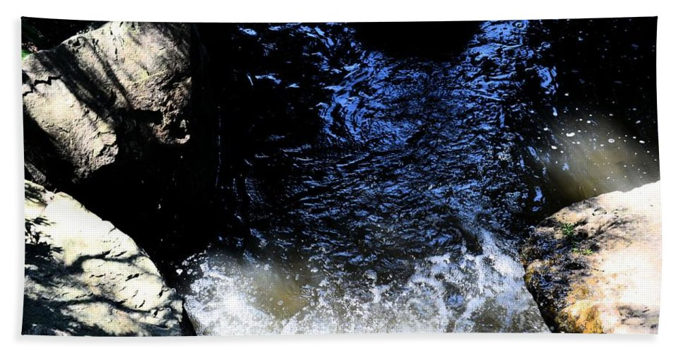 Falling Waters Hand Towel featuring the photograph Falling Waters by Luther Fine Art
