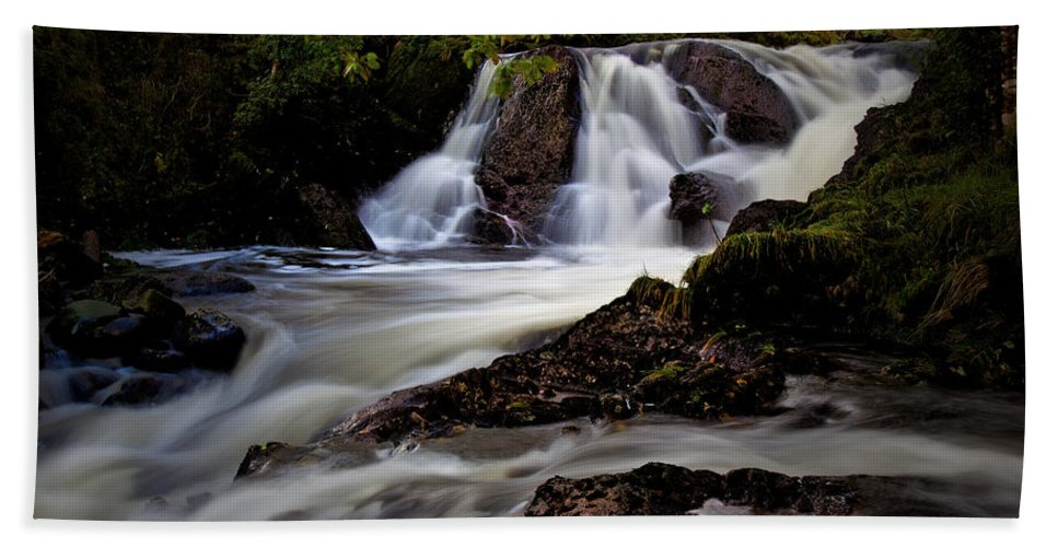 Waterfall Hand Towel featuring the photograph Falls by Beverly Cash