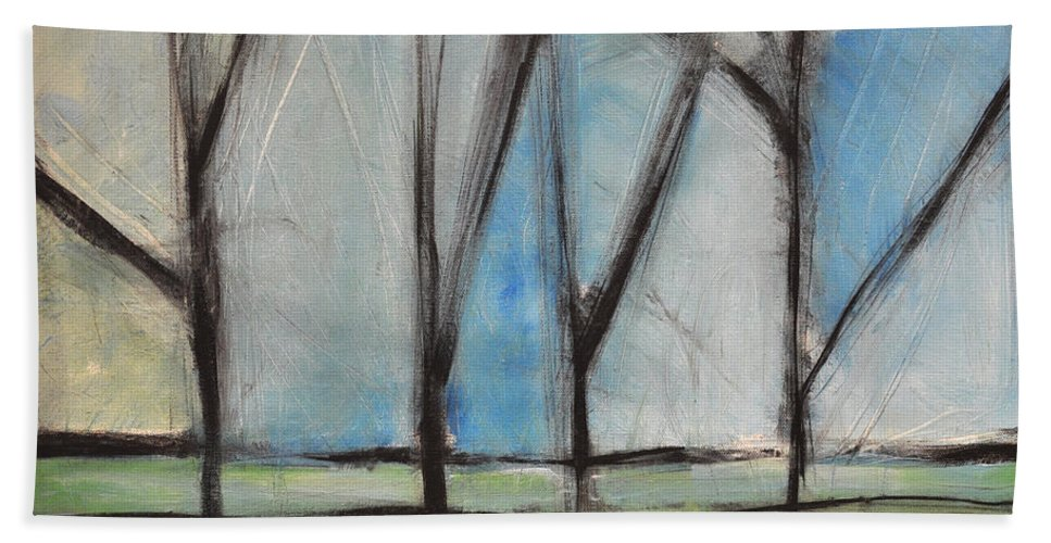 Trees Bath Sheet featuring the painting Family by Tim Nyberg