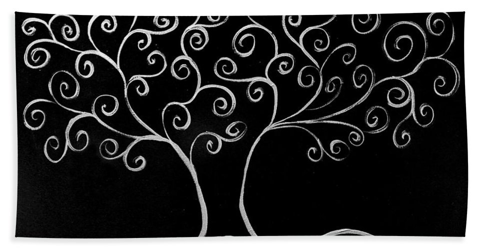 Tree Bath Sheet featuring the painting Family Tree by Jamie Lynn