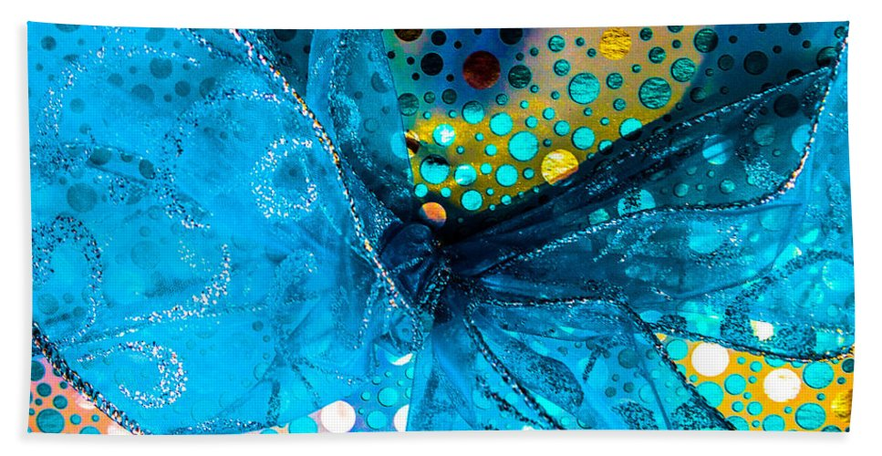 Optical Playground By Mp Ray Hand Towel featuring the photograph Fancy Wrapping Iv by Optical Playground By MP Ray