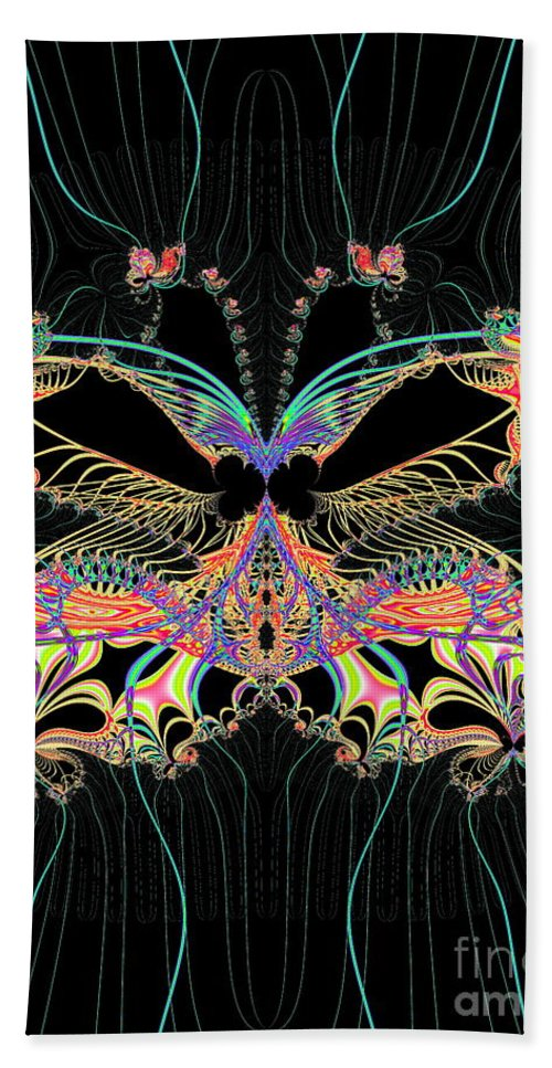 Fantasy Hand Towel featuring the photograph Fantasy Butterfly by Sharon Woerner