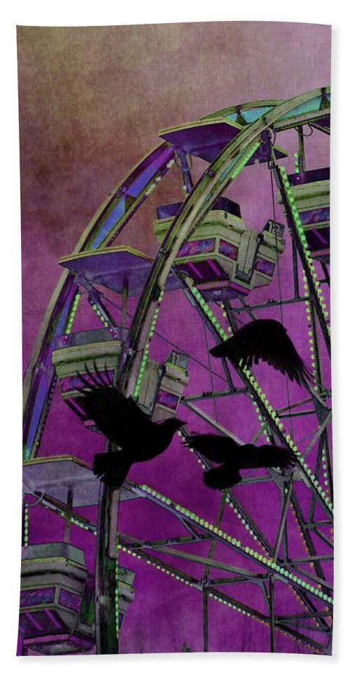 Fantasy Art Hand Towel featuring the photograph Fantasy Ferris-wheel by Gothicrow Images
