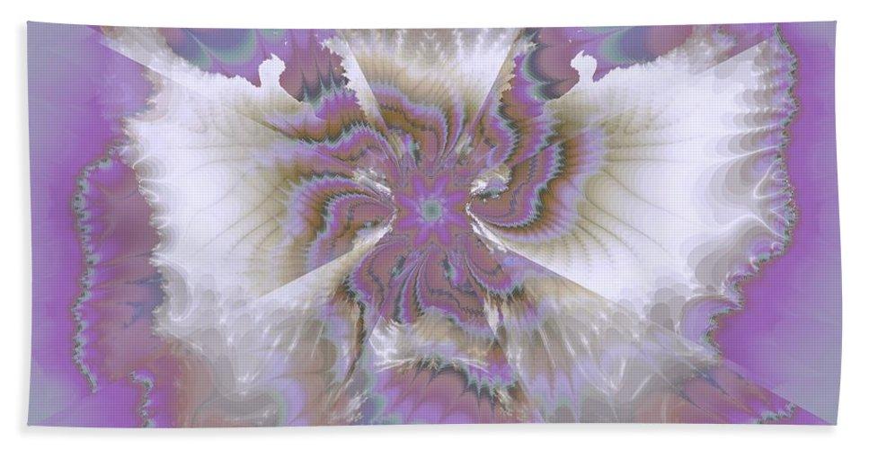 Fantasy Flower Bath Sheet featuring the digital art Fantasy Flower by Elizabeth McTaggart