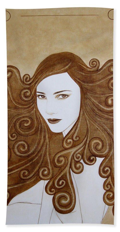Fantasy Bath Sheet featuring the painting Fantasy I by Lynet McDonald