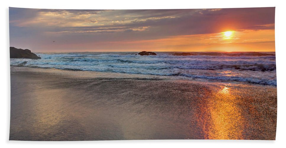 Beach Hand Towel featuring the photograph Farewell To Monday by Heidi Smith