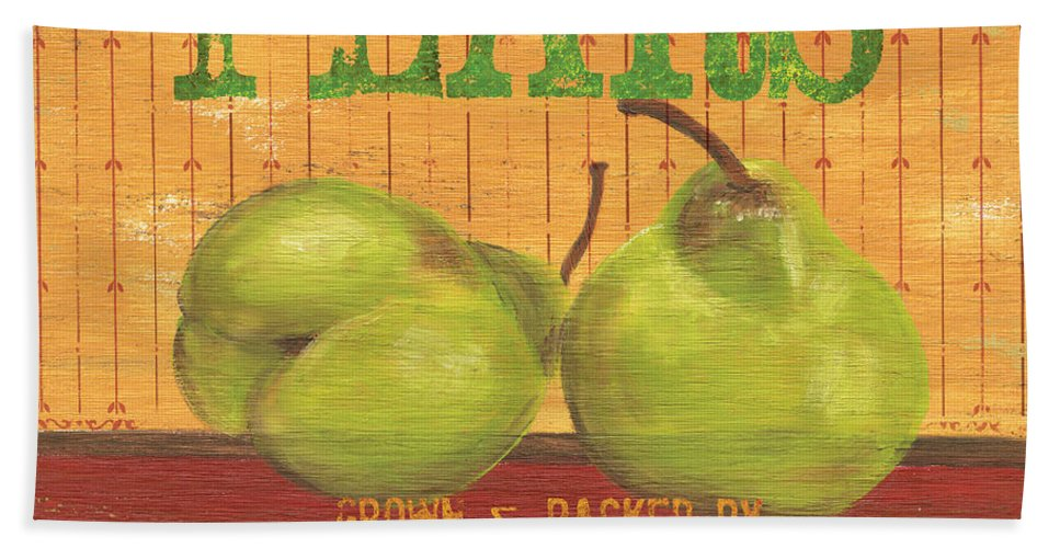 Food Hand Towel featuring the painting Farm Fresh Fruit 1 by Debbie DeWitt