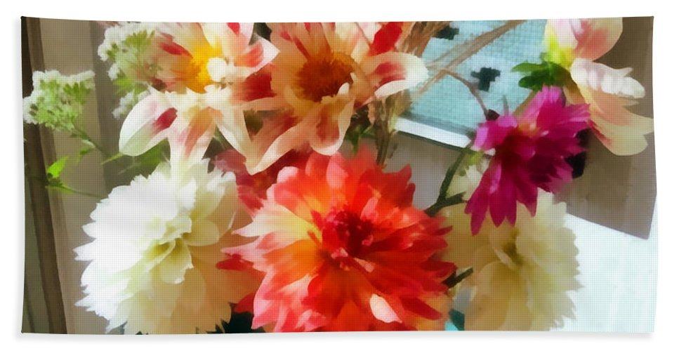 Autumn Bath Towel featuring the photograph Farm Table Bouquet by Michelle Calkins