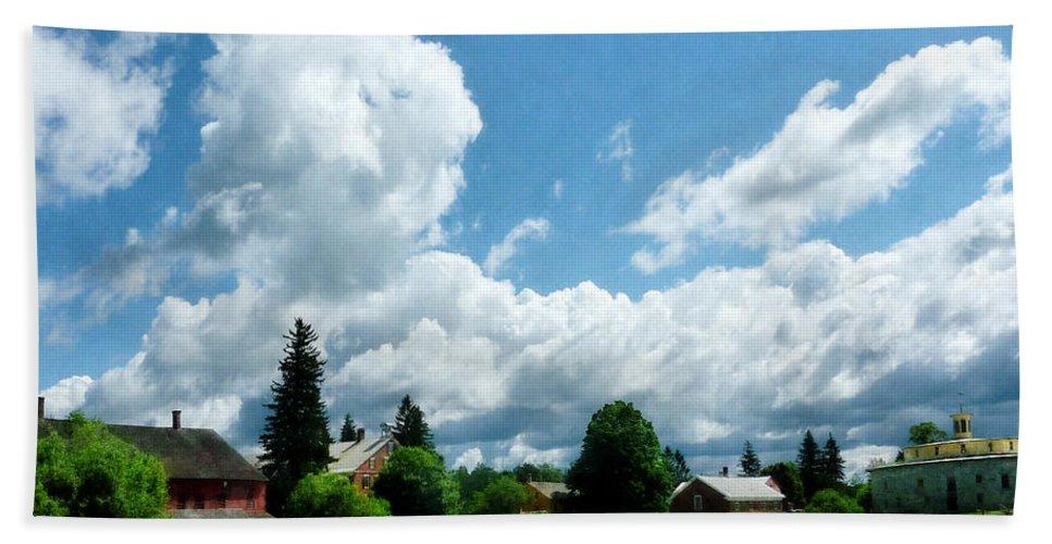 Rural Bath Sheet featuring the photograph Farm Vista by Susan Savad