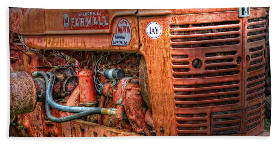 Tractor Bath Sheet featuring the photograph Farmall Tractor by Bill Wakeley