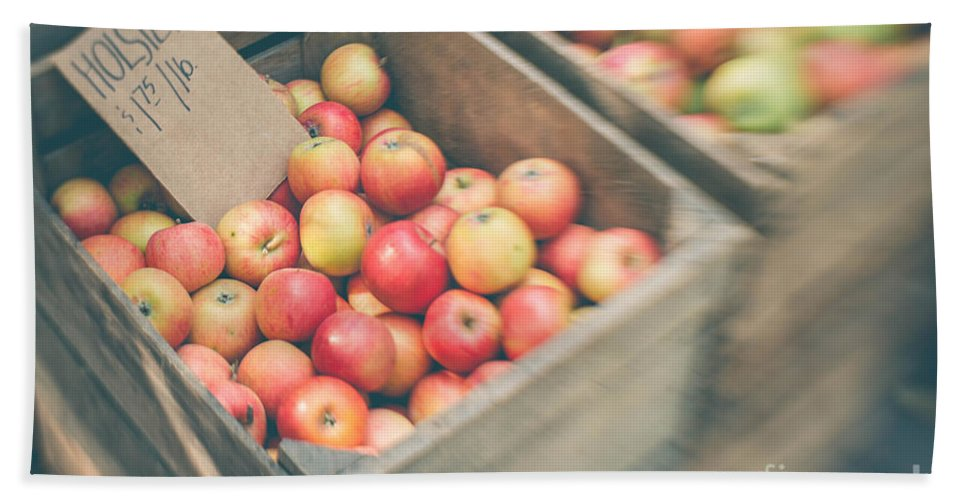 Apple Hand Towel featuring the photograph Farmers' Market Apples by Bethany Helzer