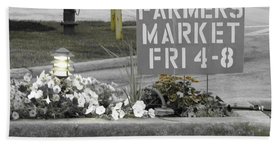 Farmers Market Bath Sheet featuring the photograph Farmers Market by Michael Krek