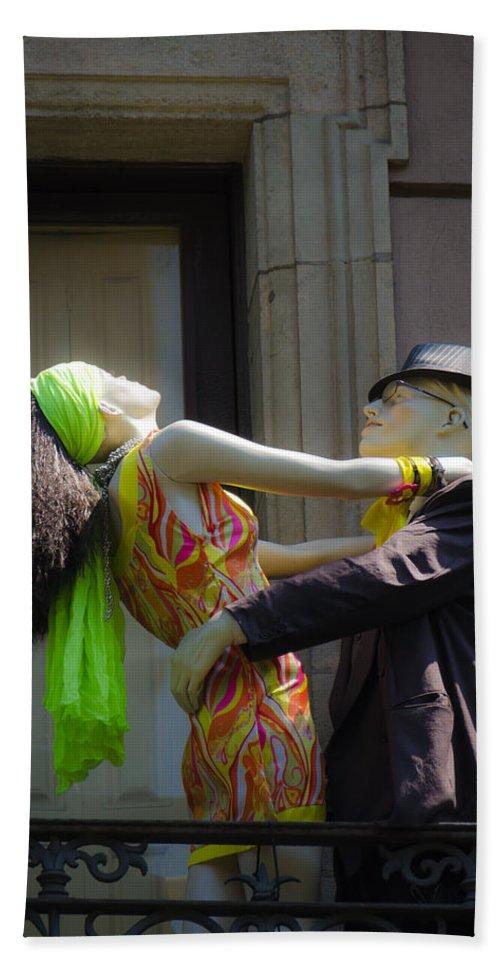 Doll Bath Sheet featuring the photograph Fashion Dolls Dancing by Sotiris Filippou