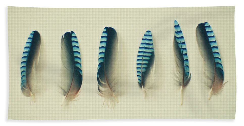 Feathers Hand Towel featuring the photograph Feathers No1 by Cassia Beck