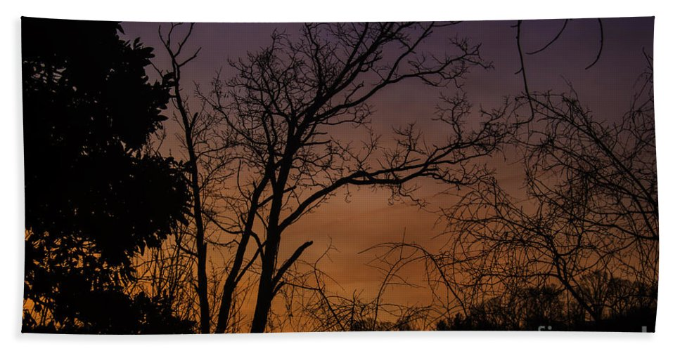 Tlk Hand Towel featuring the photograph February Sunrise by Teresa Mucha